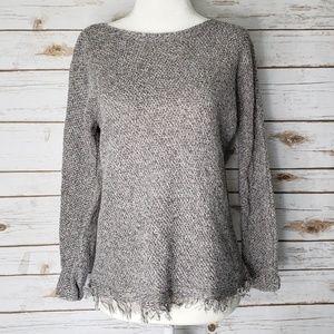 Eileen Fisher Fringe Hem Sweater